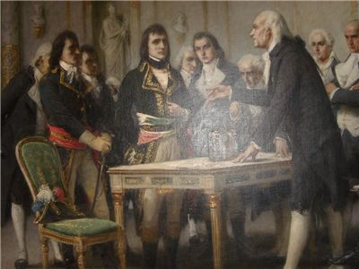 Picture Of Alessandro Volta Demonstrating His Battery To Napoleon