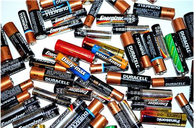 Picture Of Duracell Batteries For Recycling