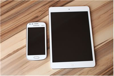 Picture Of Smartphone And Tablet